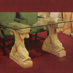 Camel Yellow Marble Pedestals