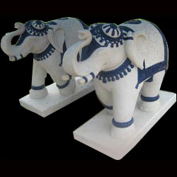 Carved Marble Animal Figures