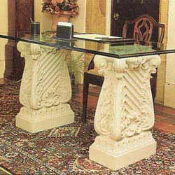 D Beige Pedestals & Table Base