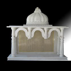 24k Gold Work Marble Temple