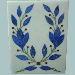 White Base Inlay Tile