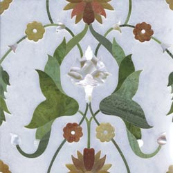 White Marble Inlay Tiles